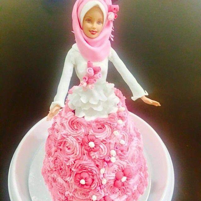 hijabi barbie doll cake design no.567 #hijabi #barbie # ...
