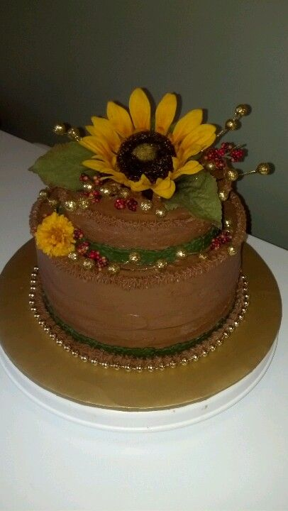 Sunflower Birthday Cake | Sunflower birthday cakes, Cake ...