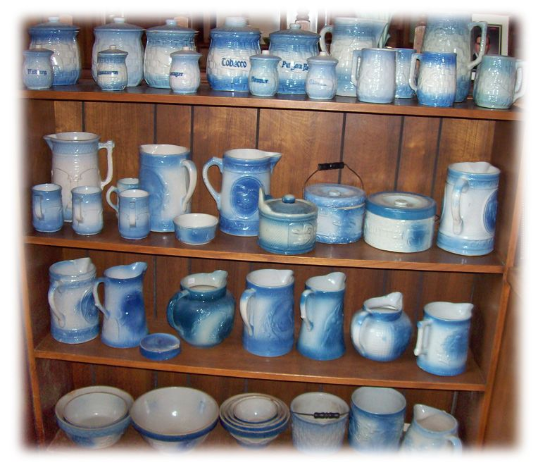 This Is A Great Collection Of Blue And White Pottery I M Just Beginning My Collection I Hope To Have This Many White Pottery Stoneware Pottery White Ceramics