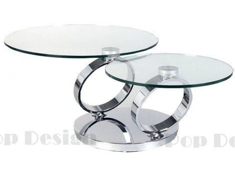 Table Basse Ronde Pivotante Basilos Socle Inox Effet Miroir Pop Design Fr Table Basse Table Basse Verre Table Basse Plateau