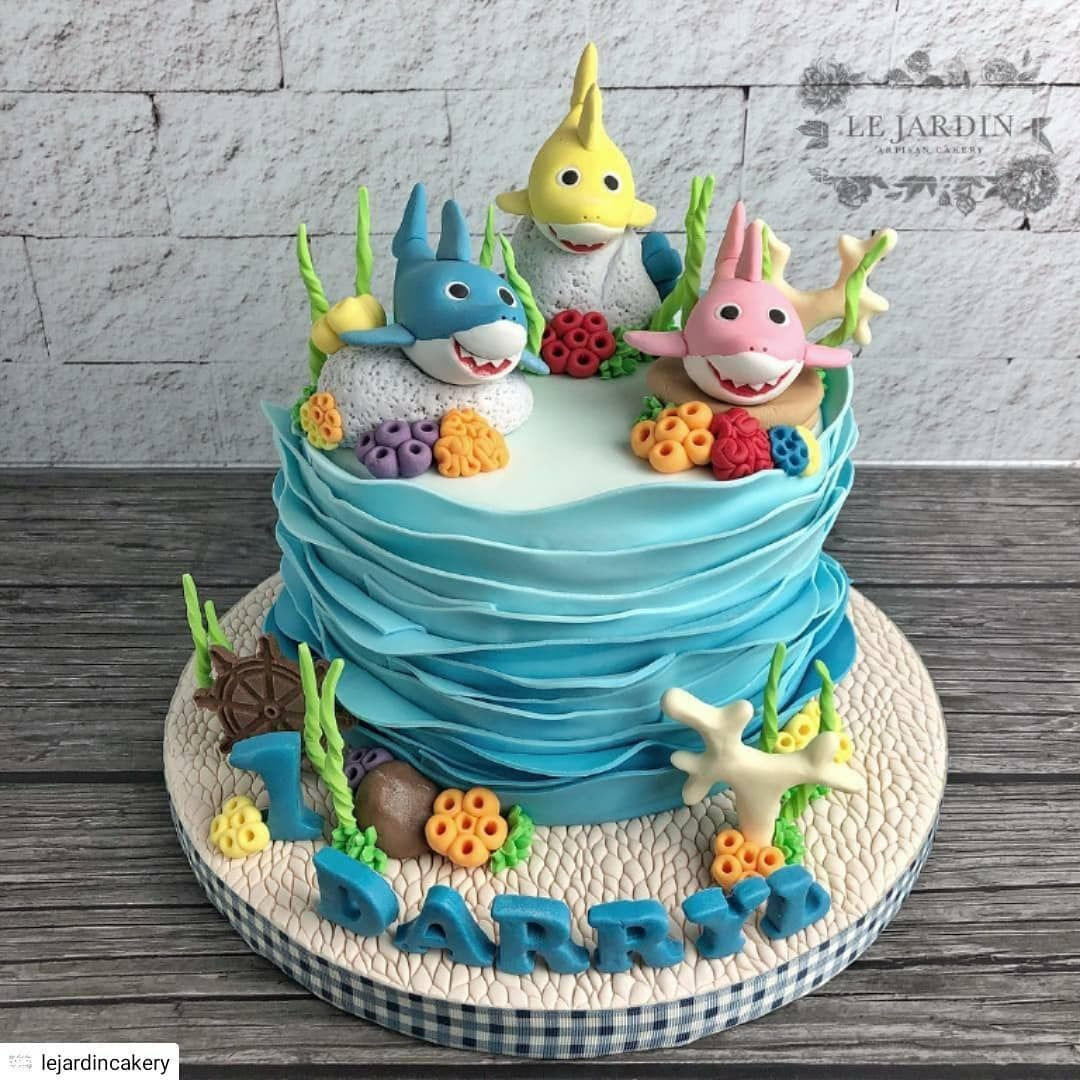 77 baby shark cake ideas to steal for your childs next