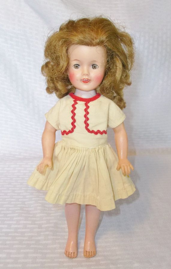 1950 S Vintage Shirley Temple Doll 12 Inch By Myvintagehatshop 34 00 Shirley Temple Vintage Vintage Toys