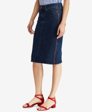 98c3ef7616 Lauren Ralph Lauren Petite Denim Skirt - Blue 10P | Products | Denim ...
