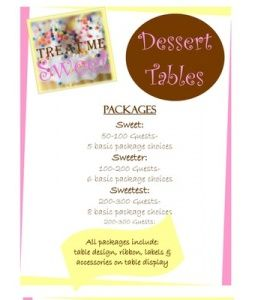 dessert table price list dessert tables in 2019 dessert table rh pinterest com candy buffet packages and pricing candy buffet prices nj