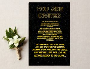 Brilliant Star Wars Wedding Invite Star Wars Wedding Star Wars Wedding Theme Star Wars Guest Book