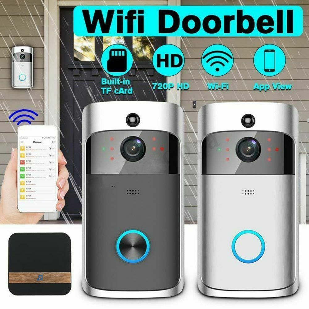 Smart WiFi Phone Doorbell Wireless IR Video Camera Intercom Home Security Bell