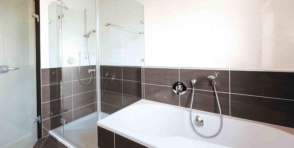 Dusche mit glaswand badezimmer pinterest