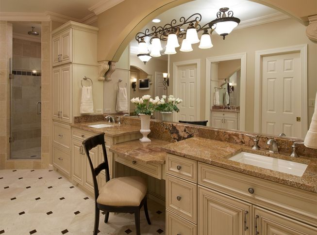 Old World Bathroom Design Ideas: Tuscan Blue Design - Interior