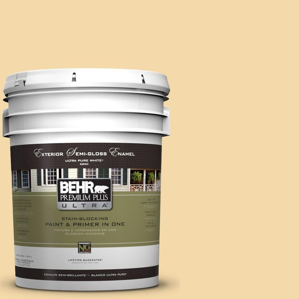 Behr Ultra 8 Oz Ul180 19 Caribbean Sunrise Matte Interior Exterior Paint And Primer In One Sample Ul180 19 Exterior Paint Behr Exterior