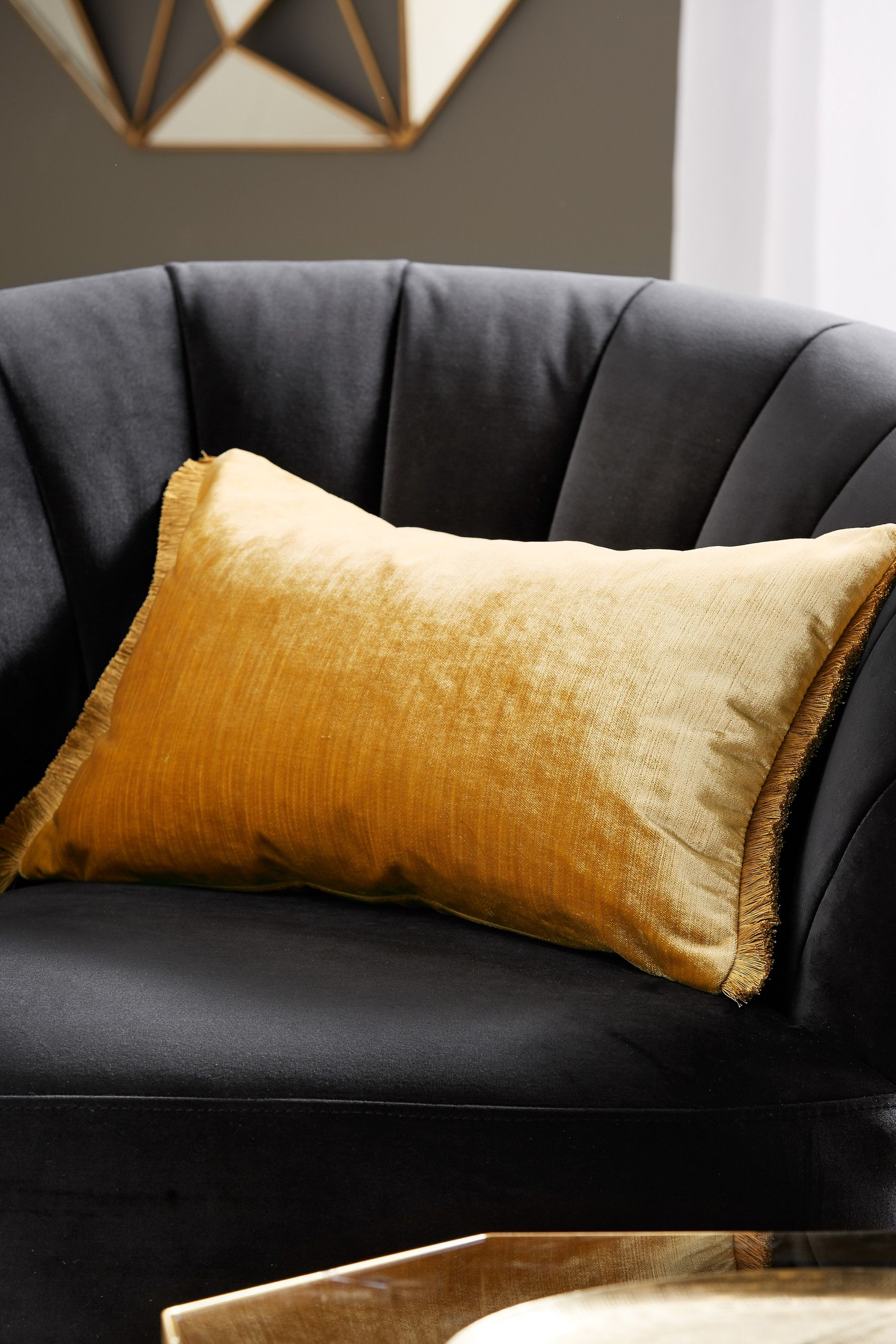 Gleaming yellow sofa pillows Ideas