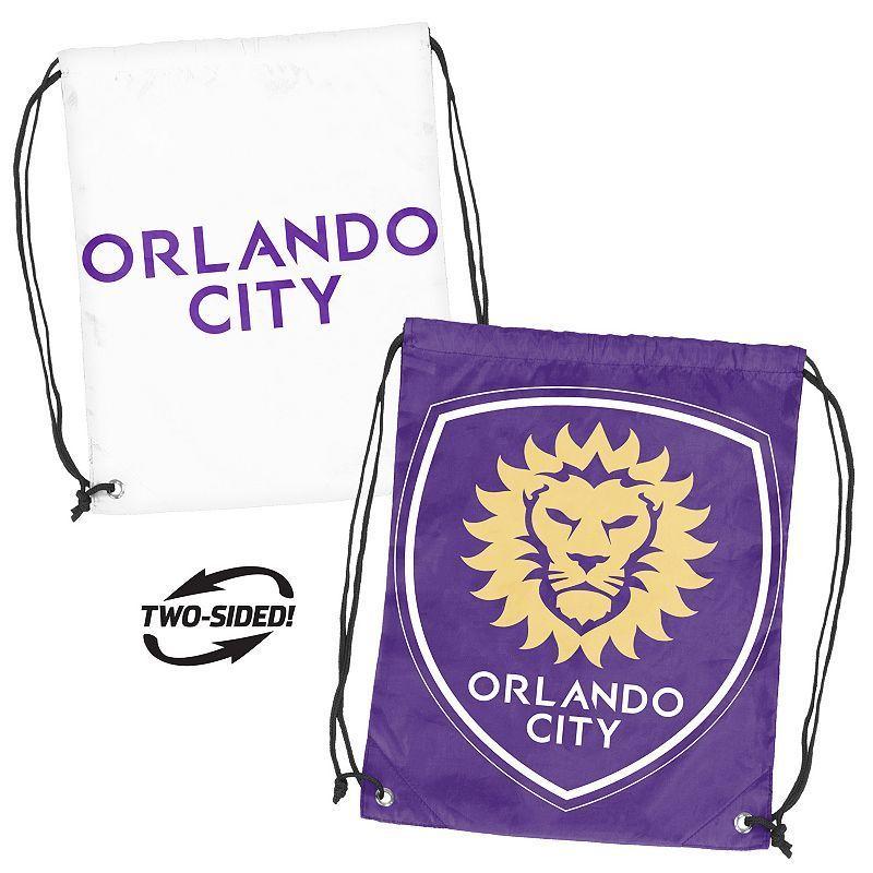 Logo Brand Orlando City SC Double Header Reversible Backsack, Multicolor