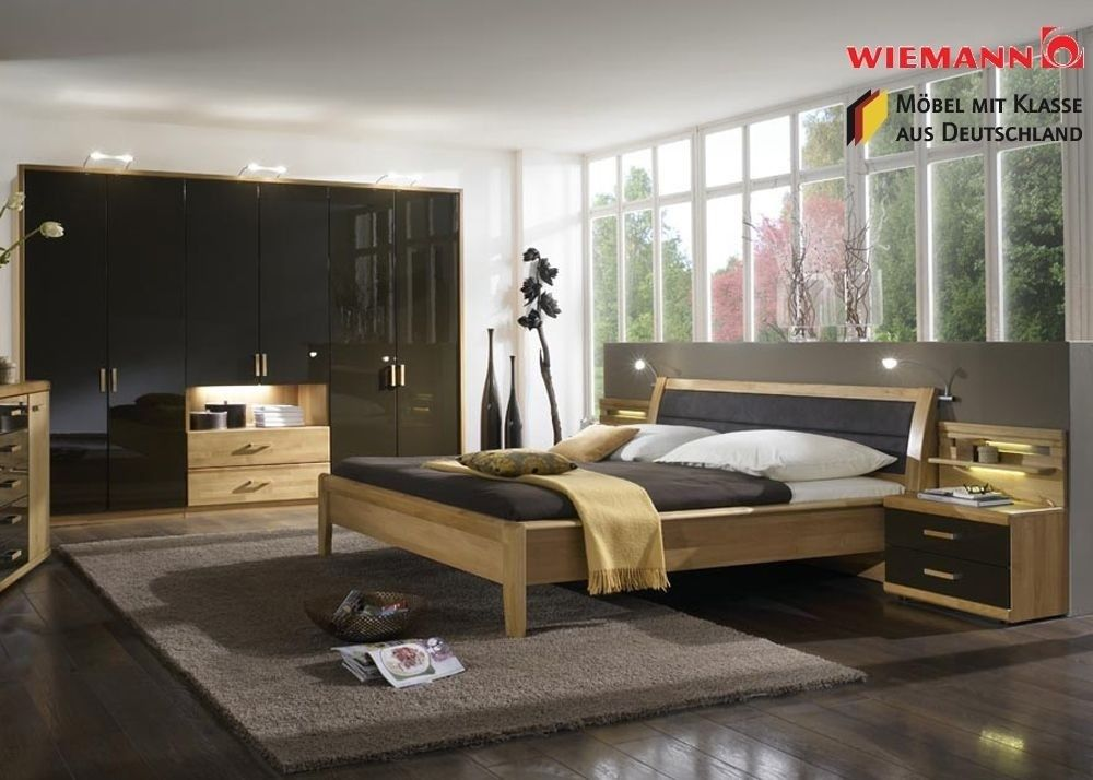 Schlafzimmer komplett Holz Erle Massiv Mocca 3762. Buy now at https ...