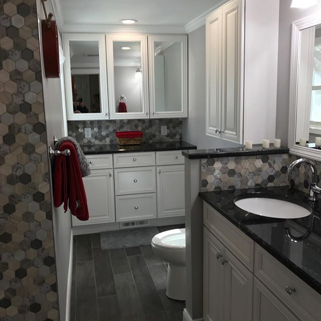 Bathroom remodel #MrHandyman9980 #Bathrooms #indoorprojects #Tile