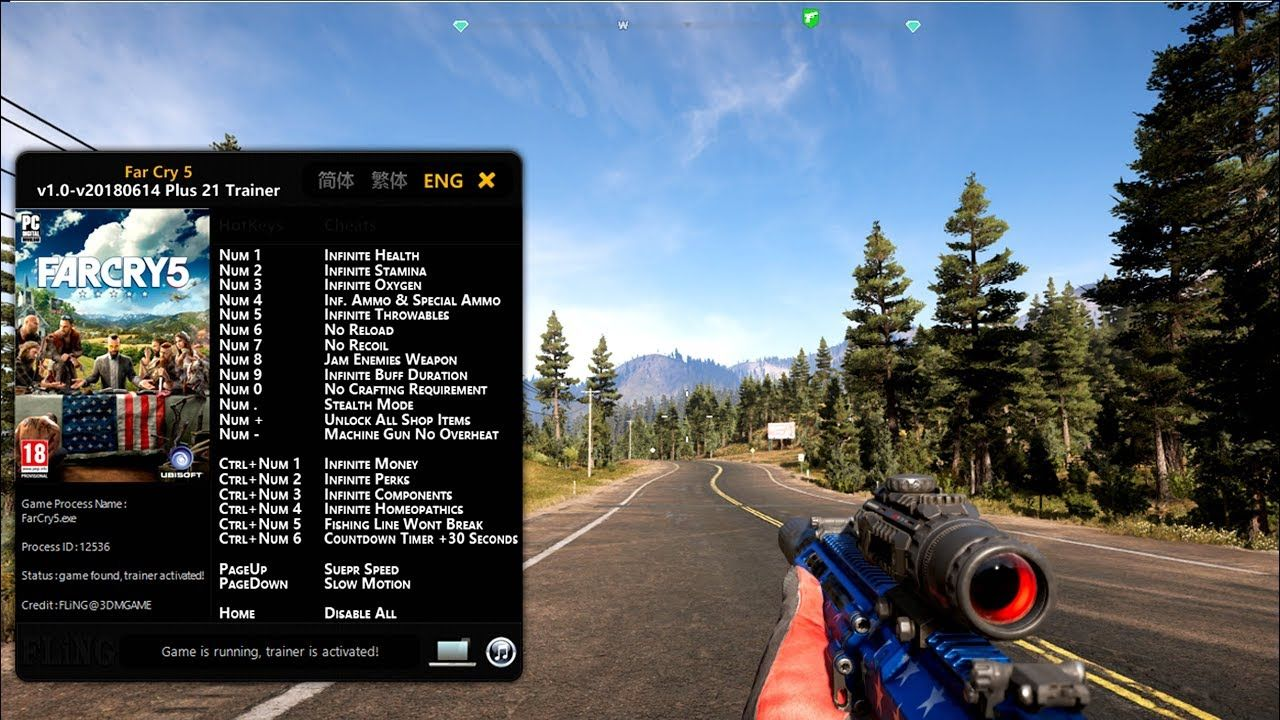 Far Cry 5 Trainer 2018 Working All Version Far Cry 5 Crying Trainers