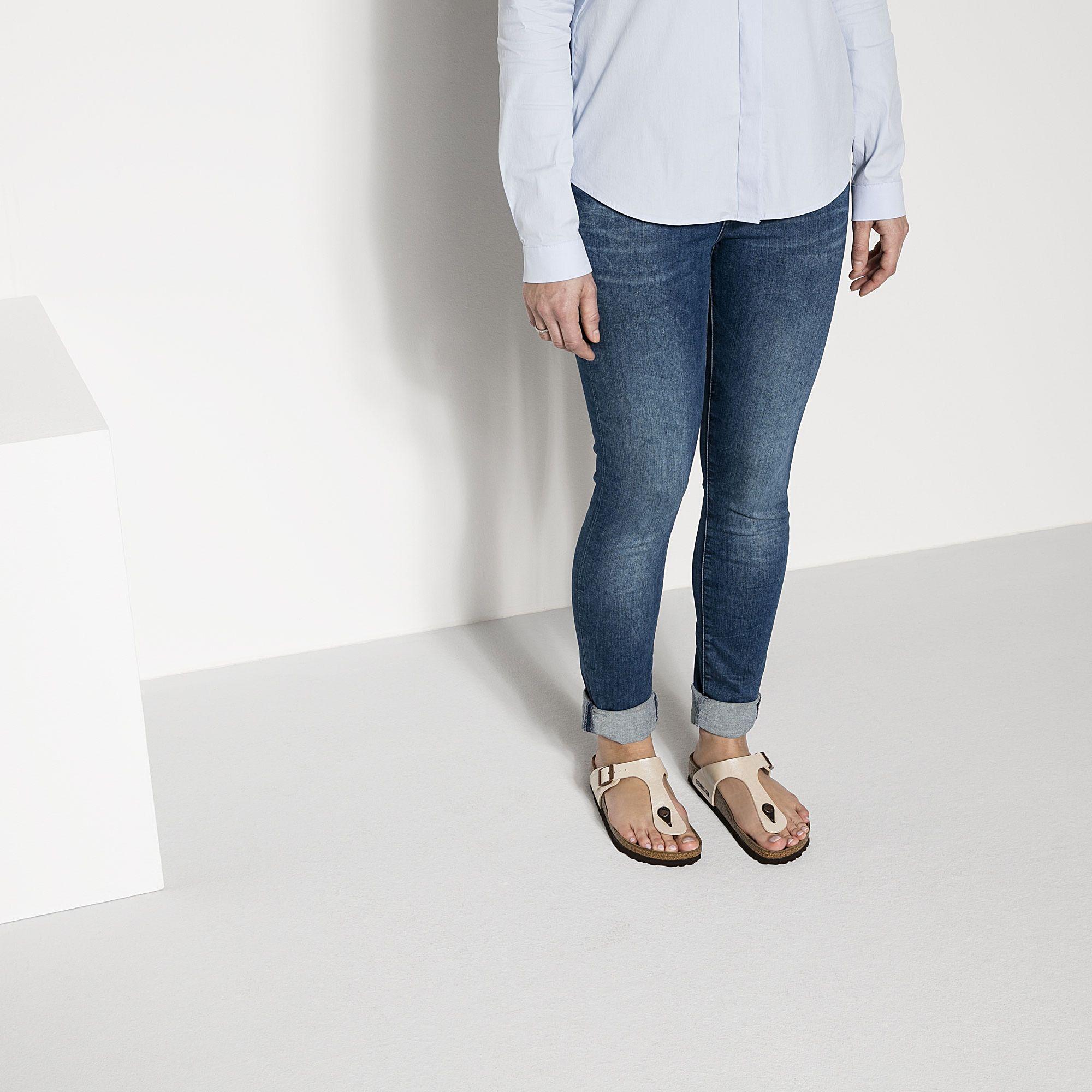 Gizeh Birko Flor Graceful Pearl White In 2020 Minimalist Fashion Birkenstock Skinny Jeans