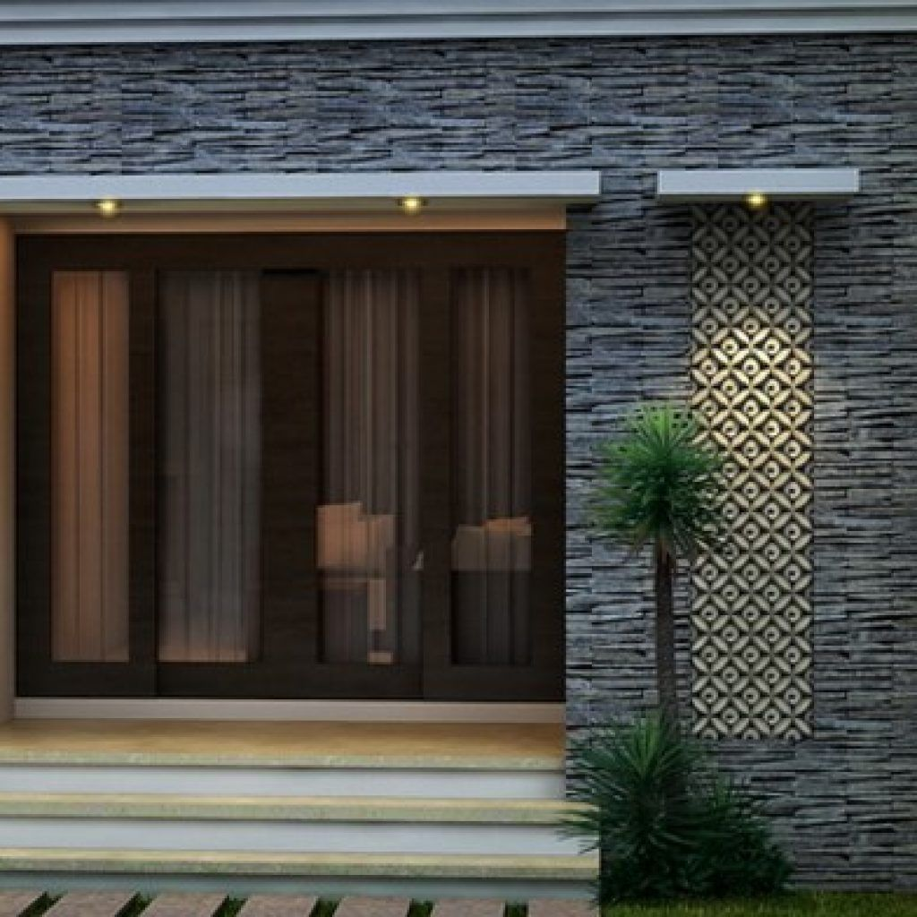 Foto Rumah Minimalis Tampak Depan Dengan Batu Alam Rumah