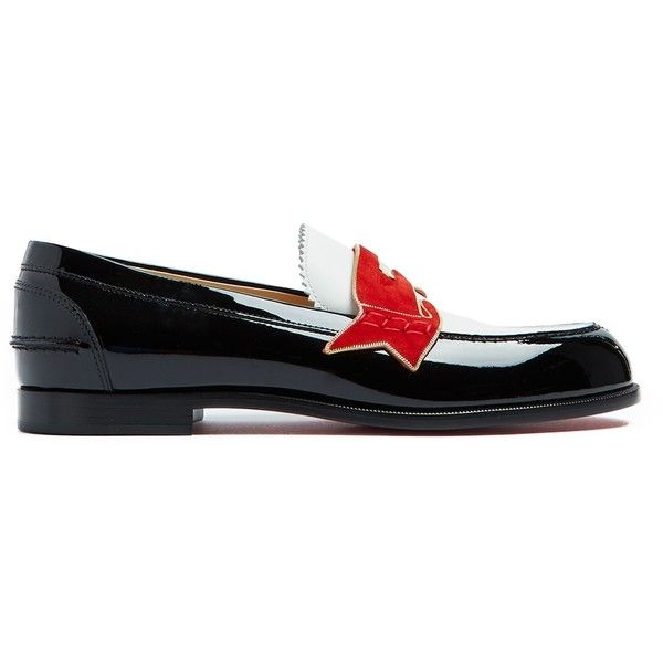 2c39f8af0425 Christian Louboutin Monana leather loafers ( 995) ❤ liked on Polyvore  featuring shoes