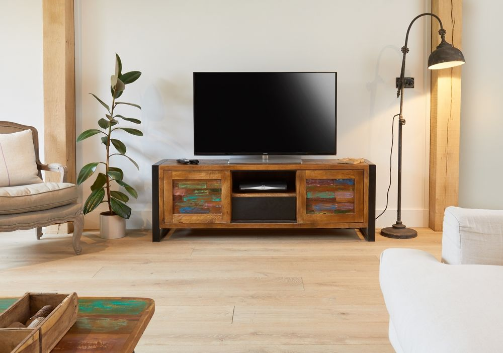 Baumhaus Urban Chic Wide Tv Cabinet Tv Cabinets Furniture Home