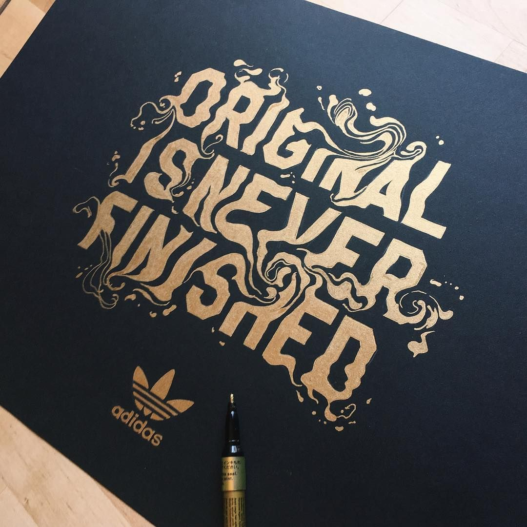 Original Is Never Finished | Typography Artwork for Adidas by artist  @ginozko #adidas #