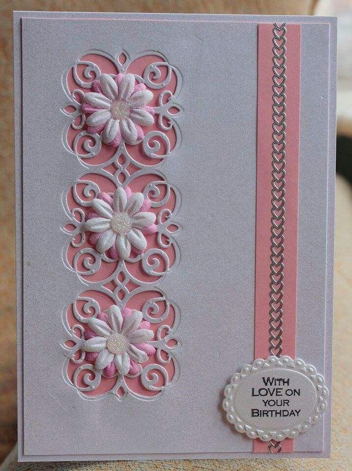 mary border strip  cards handmade flower cards hand