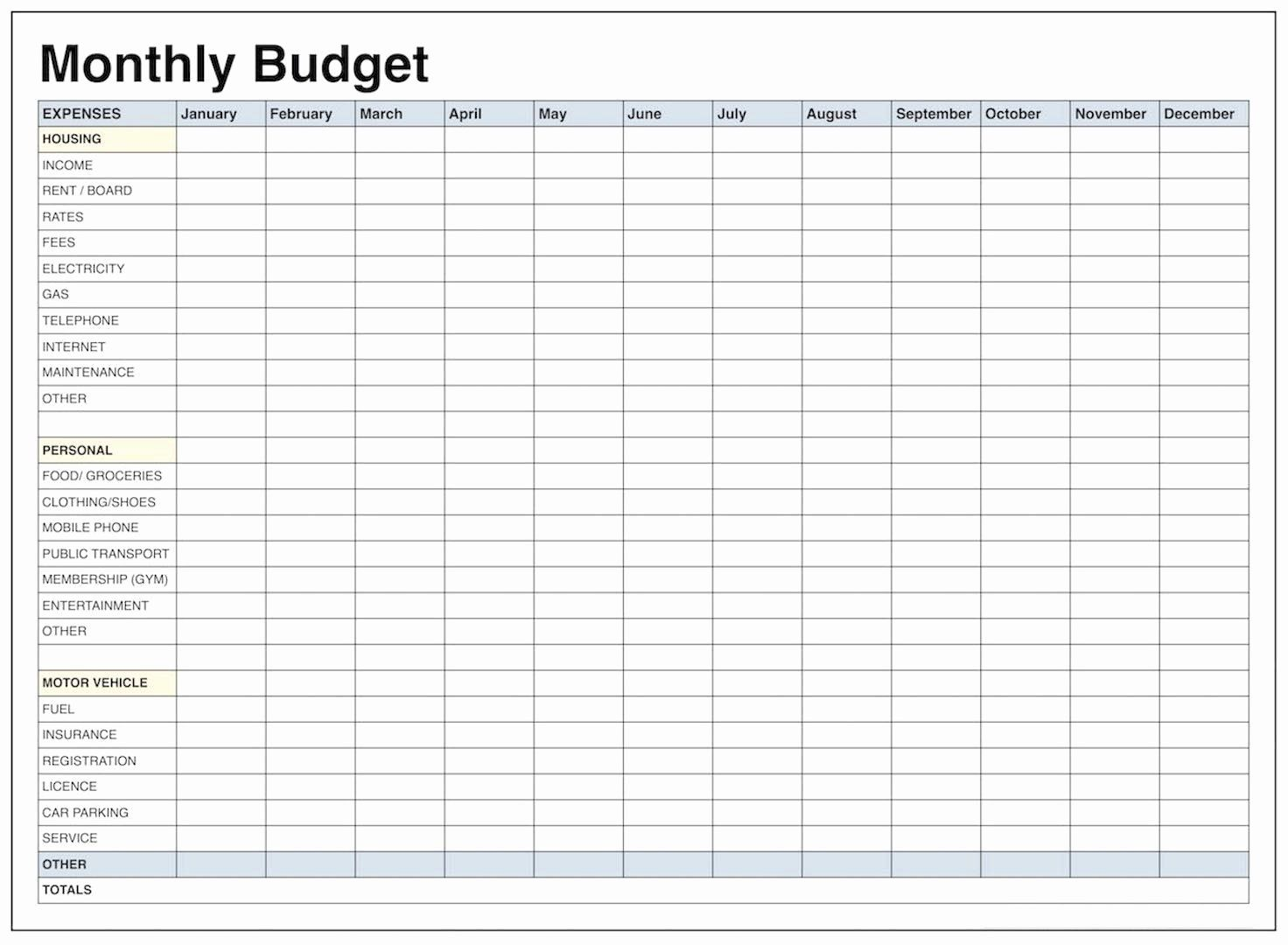 40 Monthly Budget Excel Spreadsheet Template In