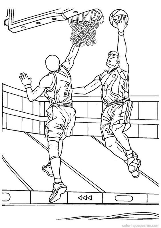 Saved by Barbara - pic of basketball players to color ...