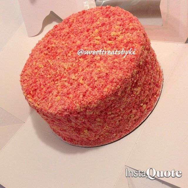 Mulpix Order Completed From Earlier Homemade Strawberry Shortcake Cheesecake Crunch Cake