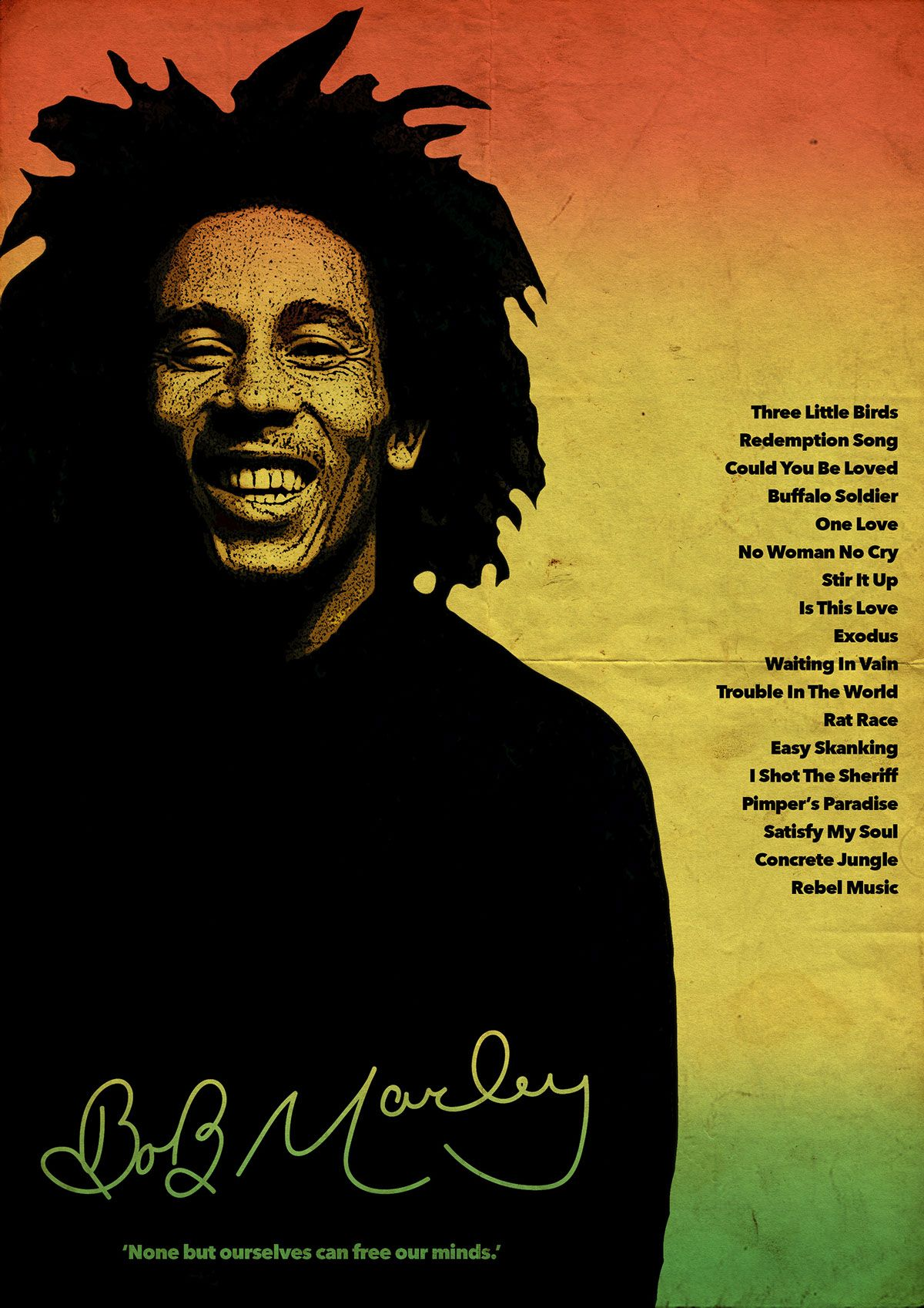 Bob Marley Poster By Luke Walsh On Behance A Combination Of My