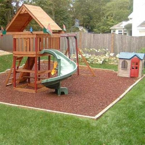 Gentil KidWise Rubber Mulch, Residential Swing Sets Backyard
