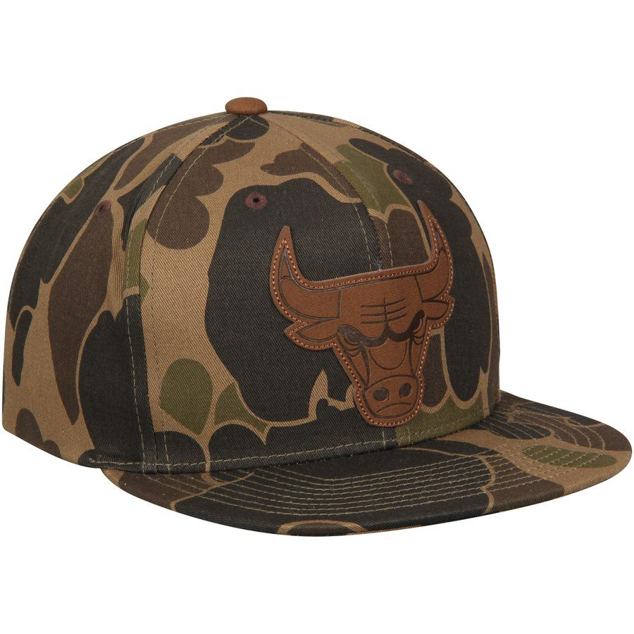 0491f451f3b Men s Chicago Bulls Mitchell   Ness Camo Lux Strapback Adjustable Hat   Mitchell Ness