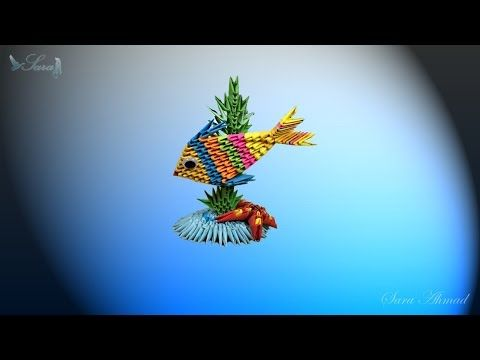 How To Make 3d Origami Fish And See Star Youtube 3d Origami