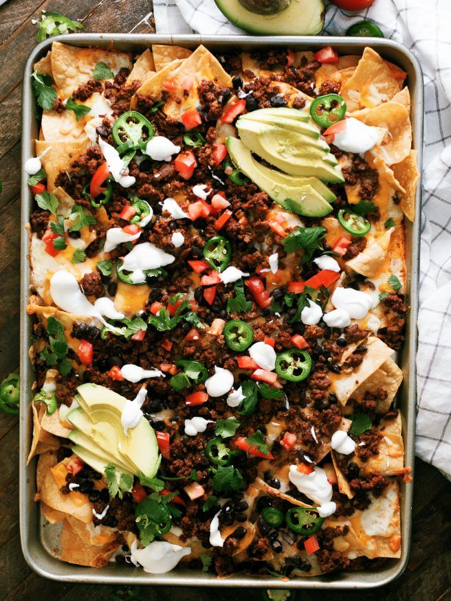 Taco Night Sheet Pan Nachos - Dad With A Pan