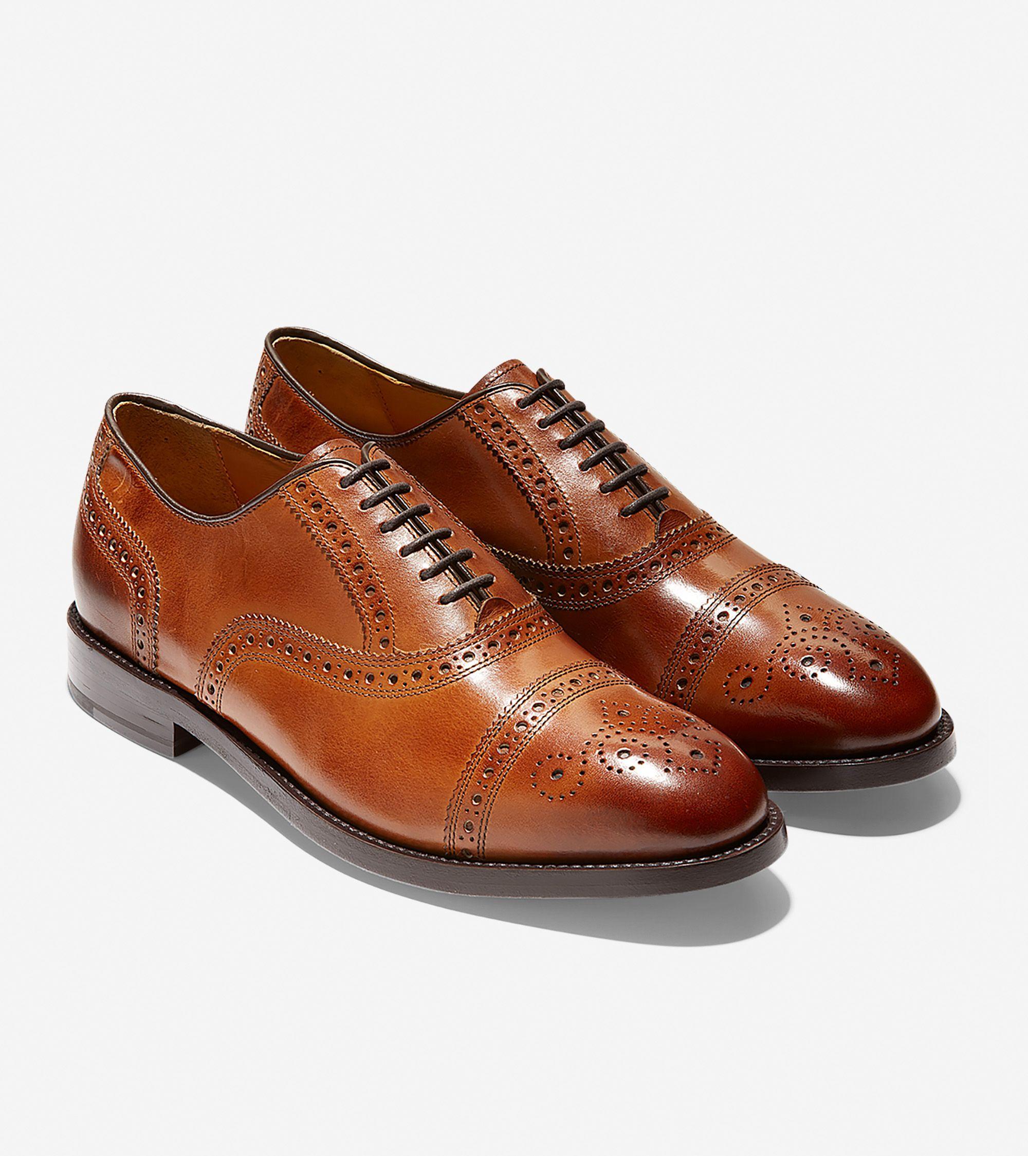 Dress shoes men, Cap toe oxfords