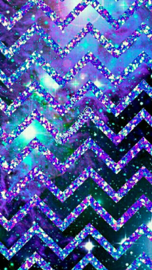 Glitter Galaxy Chevron Wallpaper I Created For The App CocoPPa