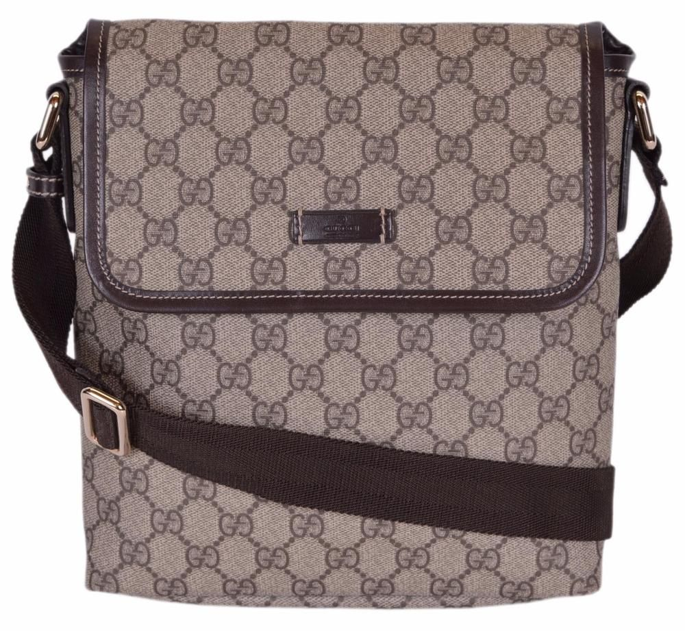 abc782221223 NEW Gucci 223666 GG Supreme Canvas Guccissima Crossbody Messenger Bag Purse   Gucci  MessengerShoulderBag