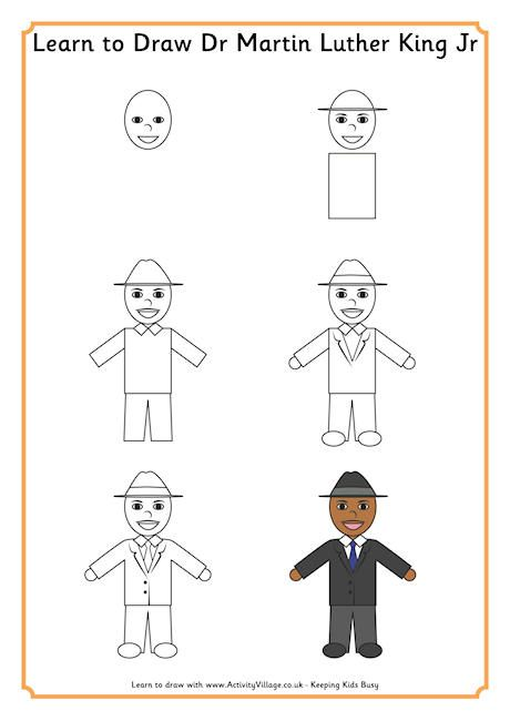 Learn to draw MLK #martinlutherkingjr SecondGradeSquad - copy coloring pages of dr martin luther king jr