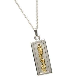 Silver & 18K Gold Ogham Pendant - My Soul Mate