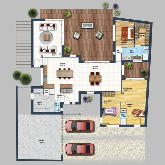 envie de faire construire une maison plain pied moderne dans le morbihan cette maison - Plan Maison 90m2 Plain Pied