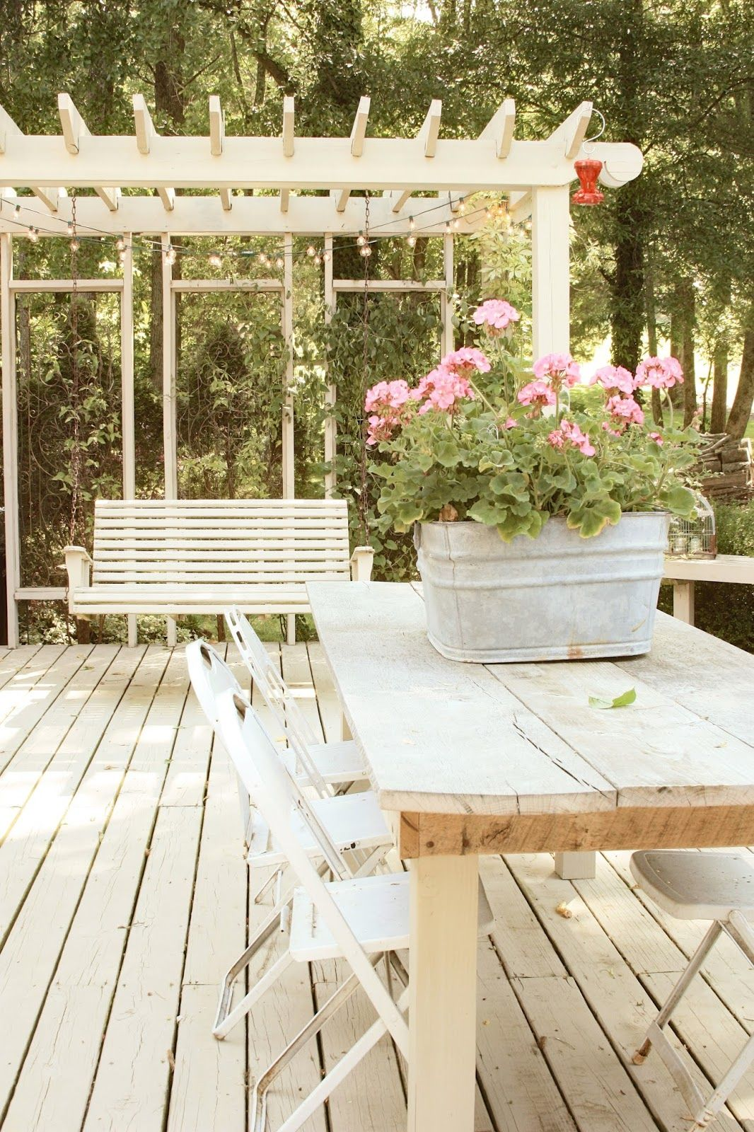 erin's art and gardens | arbor, porch swing, light color ...