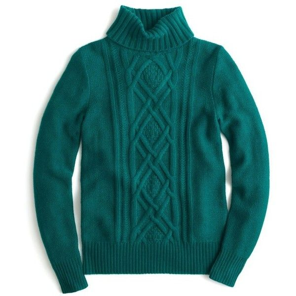 Women's J.crew Cambridge Cable Turtleneck Sweater ($98) ❤ liked ...