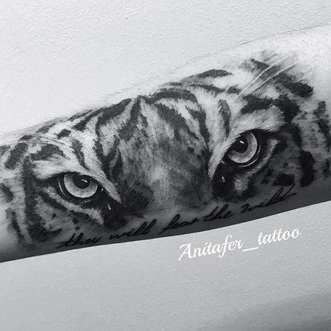 Ojos De Tigre Antebrazo Realism Realismo Ojosdetigre Tigre