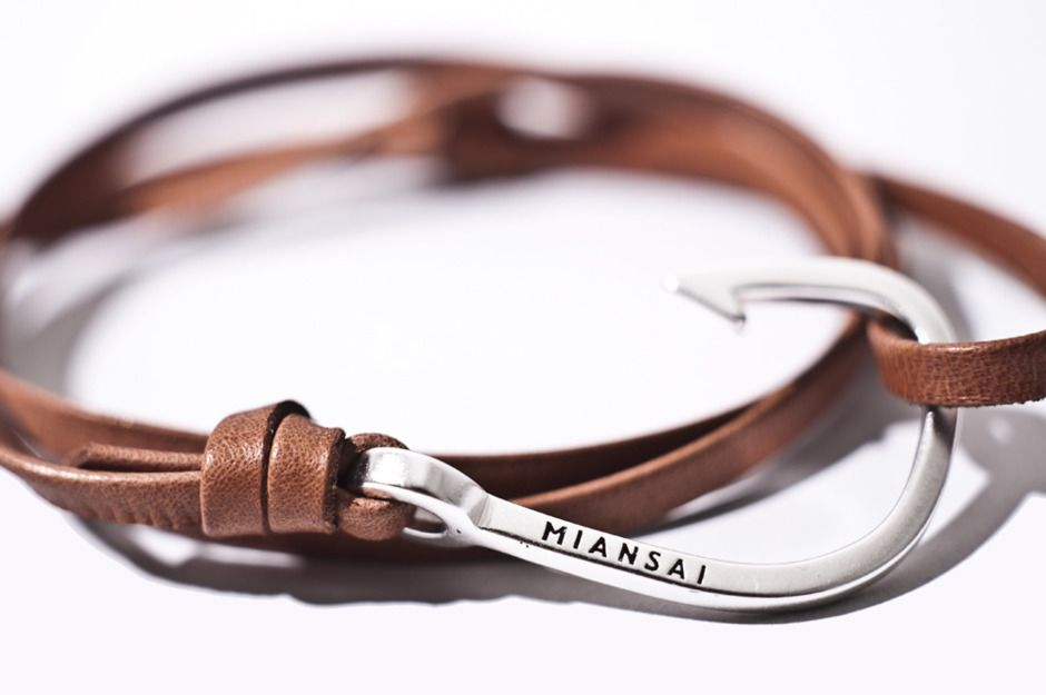 Leather Fishhook Bracelet