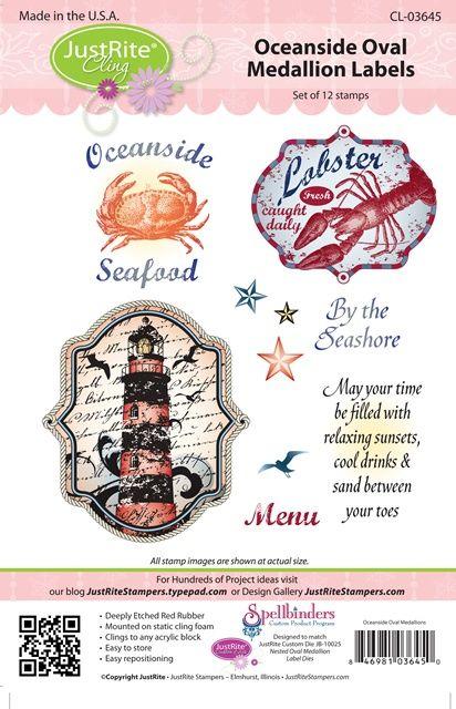 JustRite Stampers Oceanside Oval Medallion