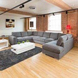 Extra Large Sofa Set Settee Corner Group U L Shape Grey 4 0 X 2 6m