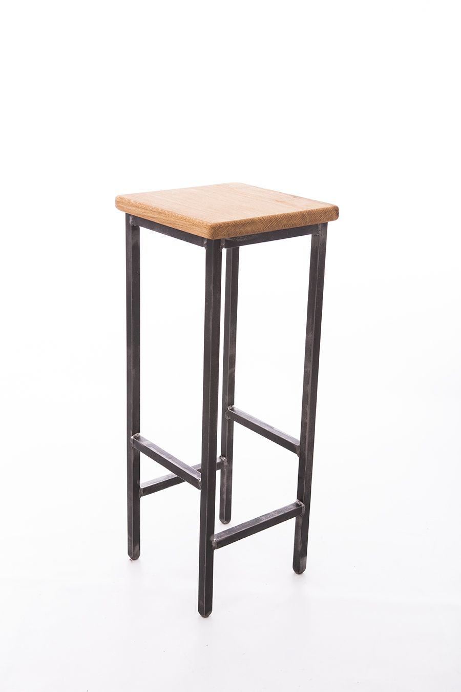 Bar Stool Industrial Style Made With Steel Square Tube