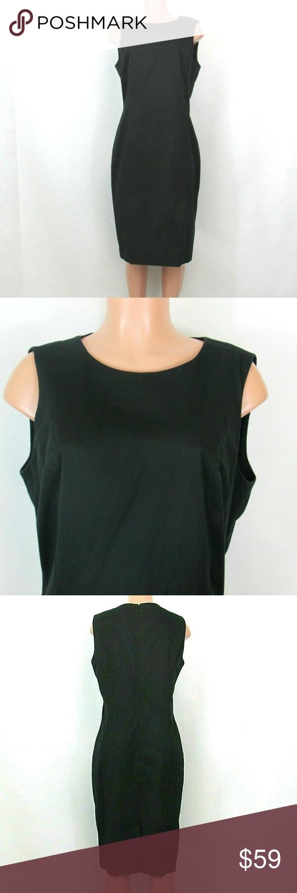 Nwt Austin Reed Black Sleeveless Shift Dress 14 In 2020 Sleeveless Shift Dress Shift Dress Sleeveless