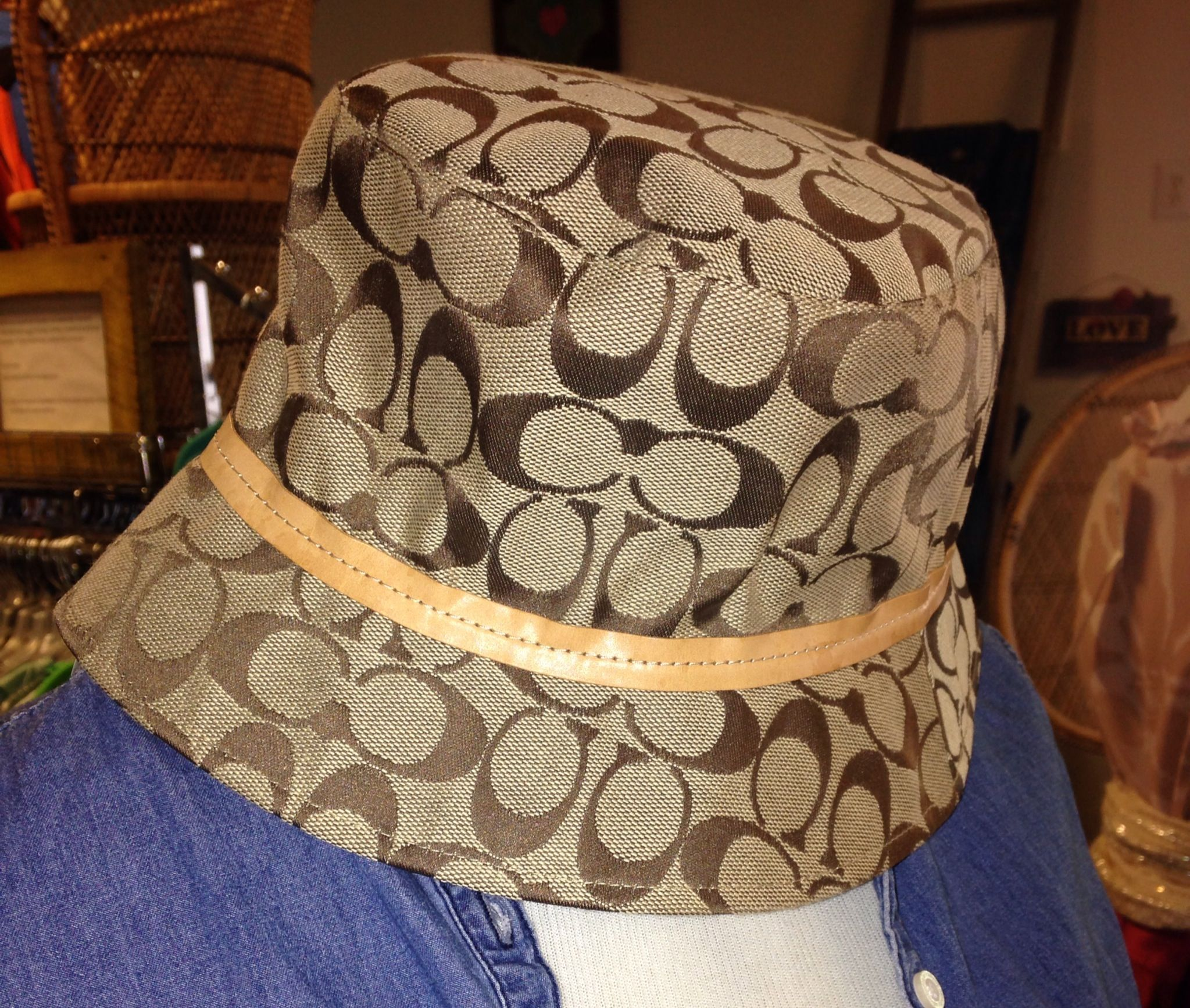 5dc86fdedc8f4d Hat hair is forgivable with this beauty, small coach signature bucket hat.  $30 #coach