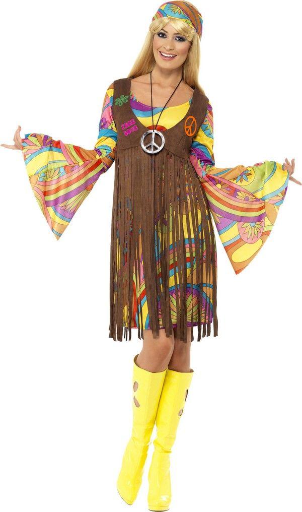 Le costume hippie fleurs pour femme est idéal pour toutes vos soirées sur  le thème rétro. d44b0d890373