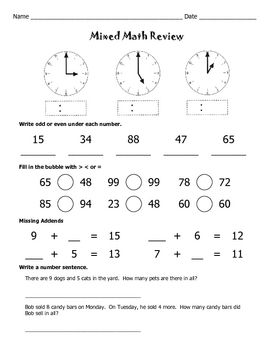 in addition 1 8 Fraction Math Fifth Grade Math Review Worksheets Problems likewise 5th grade math practice problems – unitetoeducate also 5th Grade Math Review Worksheet Printable   Elementary Math further daily math review 5th grade – bucefal club besides Fraction Review  Addition  Subtraction  and Inequalities   Worksheet in addition 5th Grade Math Review Worksheets Free Download Free Printable together with Math Worksheet  Adding Fractions And Decimals Worksheet Math Facts as well 5th Grade Math Review Worksheets Free Math Worksheets Grade Decimals as well  besides Free printable 5th grade math Worksheets  word lists and activities likewise Third Grade Math Review Worksheets Free Multiplication Drills additionally Teach Second Grade Math Review 6th  mon Core Worksheets 2nd likewise Math Test Prep 5th Grade Review Worksheets   AWESOME Elementary TPT additionally 5th Grade Math Test Prep Worksheets Full Size Of Practice Worksheet furthermore 5th Grade Math Review Worksheets Unique 17 Fantastic 3rd Grade Math. on 5th grade math review worksheets