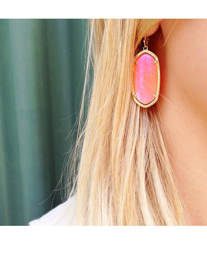 Elle Earrings In Iridescent Tangerine Kendra Scott Jewelry